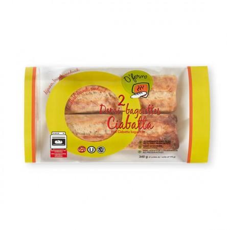 2 Demi-Baguettes Ciabatta