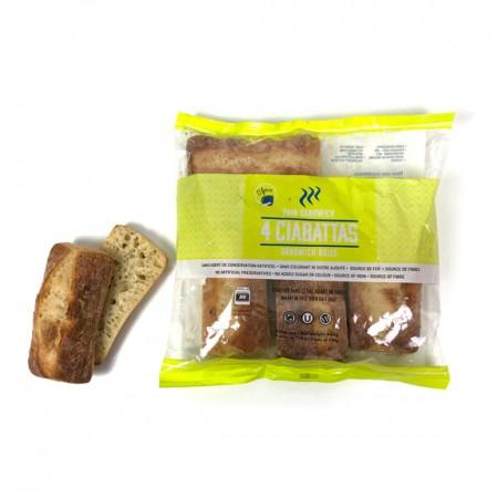 4 Ciabattas Sandwich Bread
